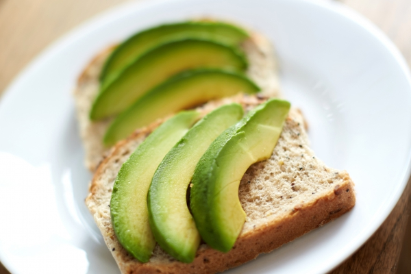 Avocado on wholemeal bread